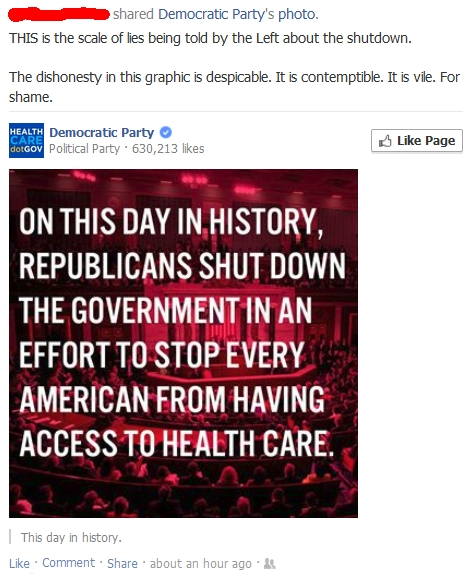 Democrat Propaganda on Shutdown